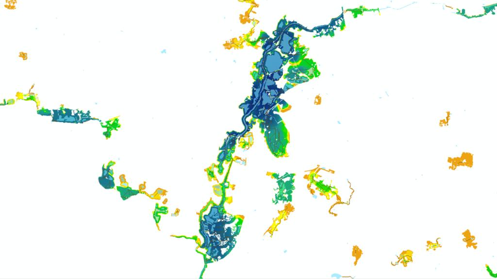 Cartographie des corridors écologiques de la métropole de Rennes par KERMAP