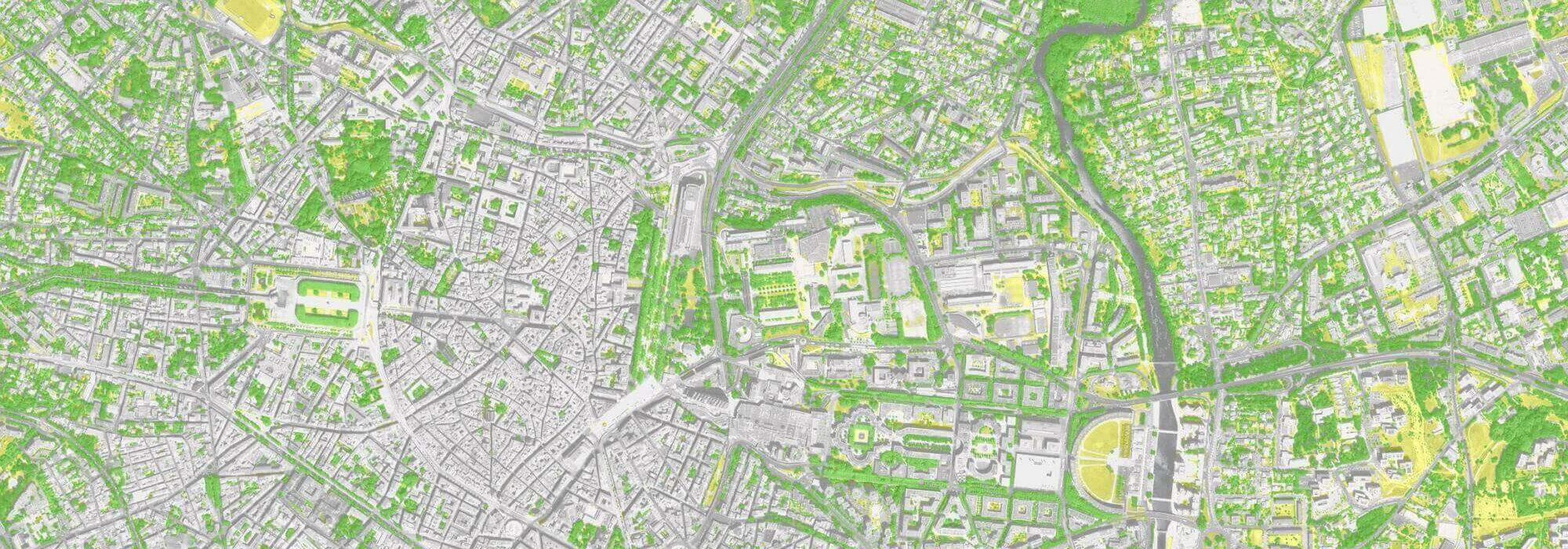 carte des arbres en ville