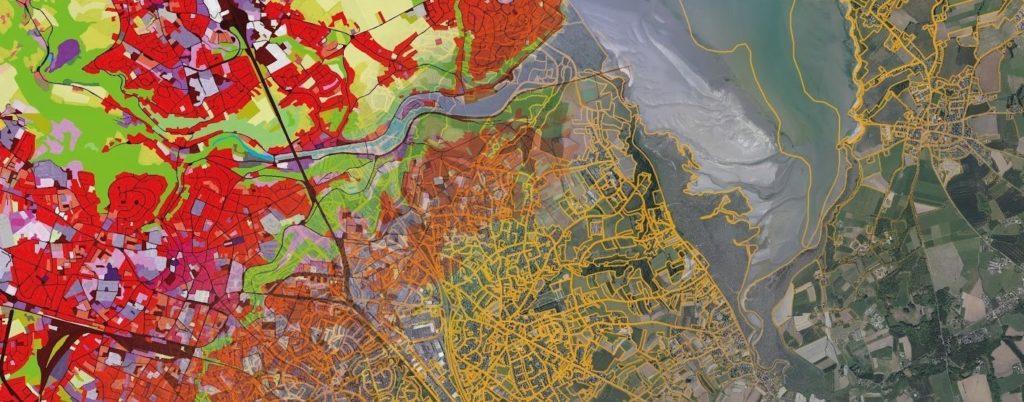 Carte de l'occupation des sols dans la baie de Saint-Brieuc
